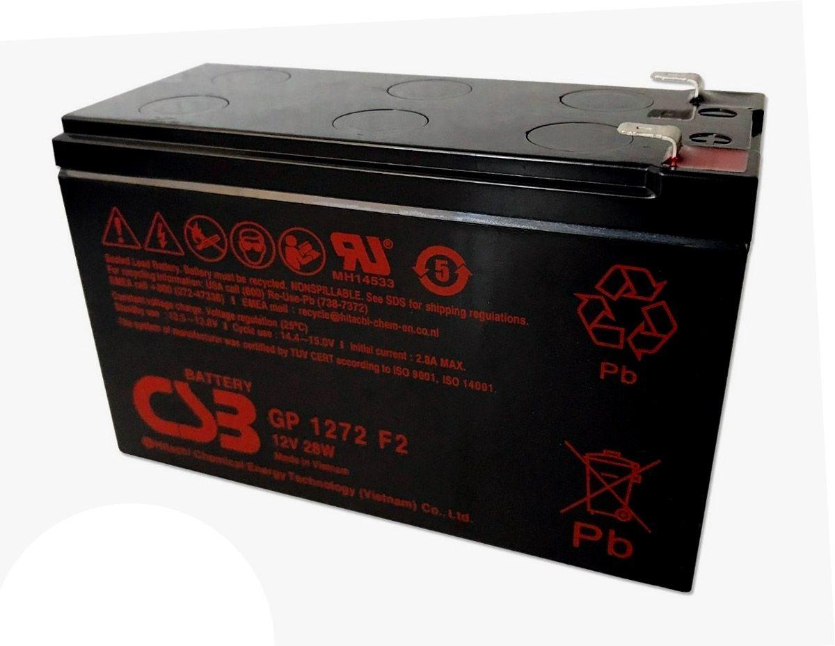 6pcs Bateria Csb 12v 7ah Gp1272 F2 Sms Apc Alarme No Break