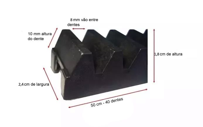6pcs Gomo Cremalheira Nylon 50cm Seg Garen Unisystem Garcia