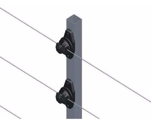 6pcs Haste Cerca 25x25 1 Metro Com 6 Isoladores W Chumbar