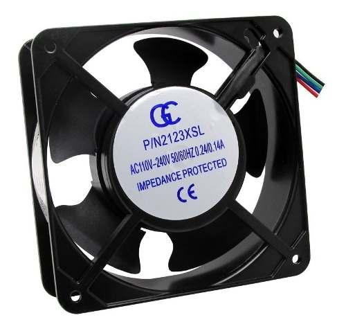 6pcs Ventilador Ventoinha Gc Metalica Bivolt 120x120x38mm