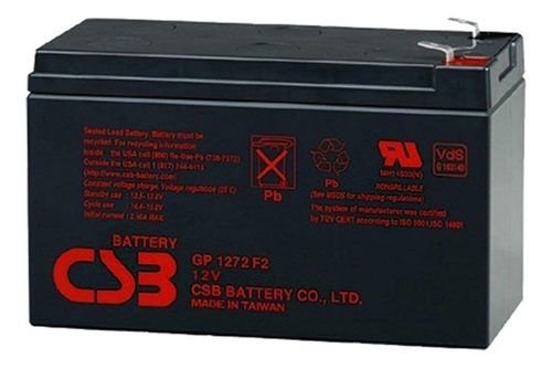 8pcs Bateria 12v 7ah Csb No Break Sms Apc Alarmes Gp1272 F2
