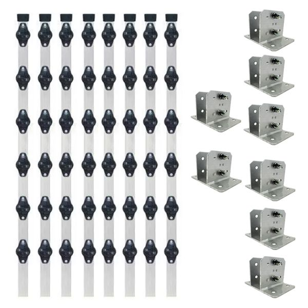 8pcs Haste Cerca Elétrica 23x23 1mt Industrial + Suporte
