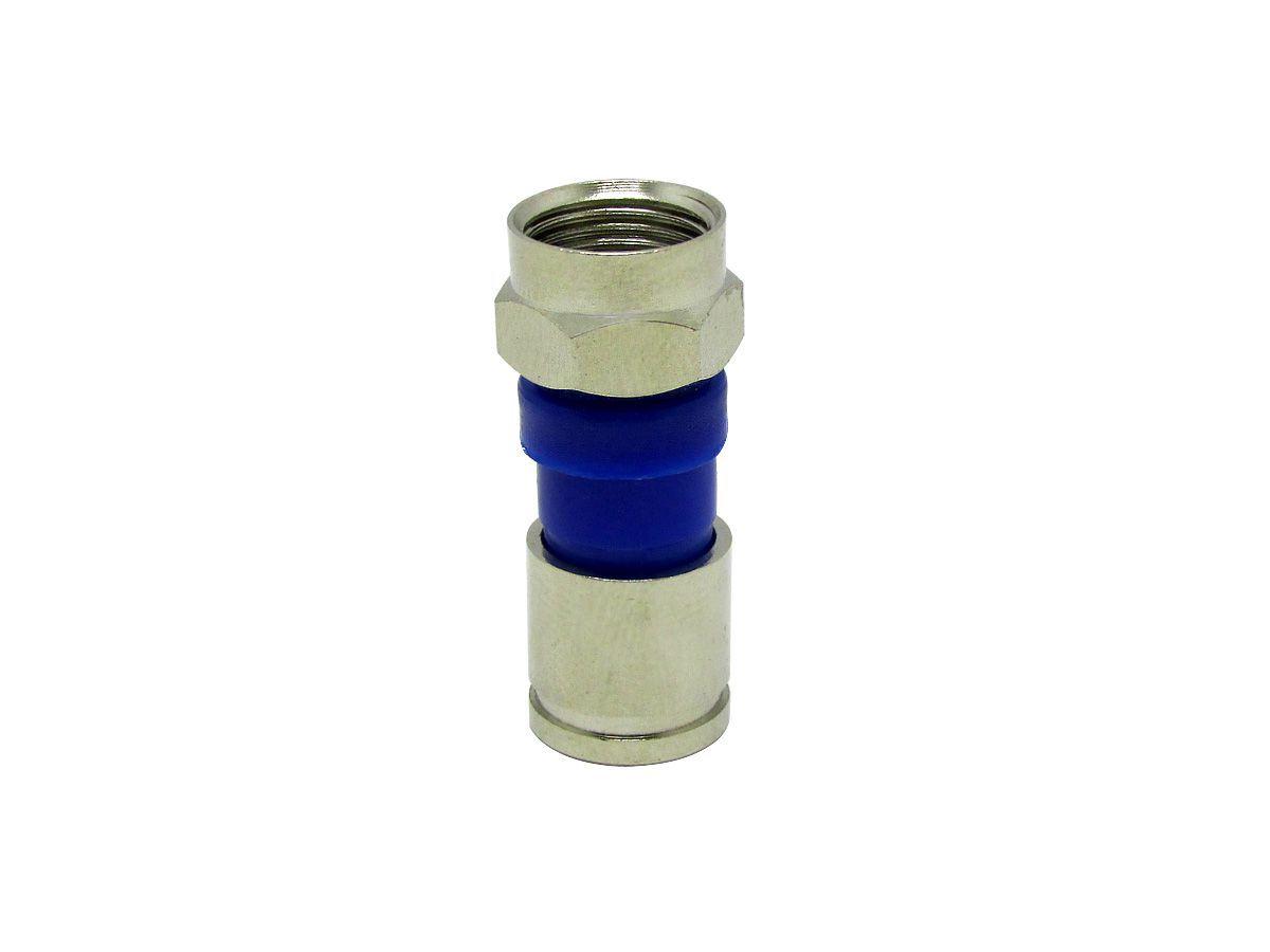Alicate Azul Com 25 Conectores Rg59 E Mais Alicate Decapador
