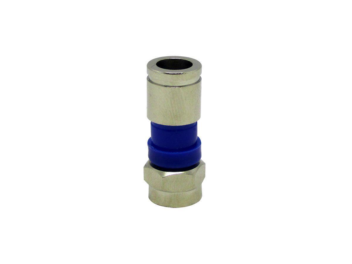 Alicate Azul Compressão Mais 100 Conectores Rg59 Crimpar