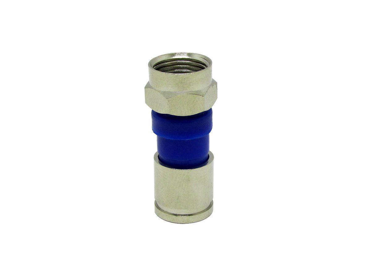 Alicate Azul Mais 25 Conectores Rg59 Mais Alicate Decapador