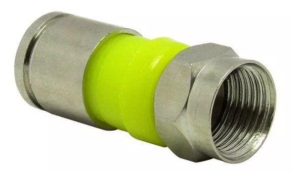 Alicate Crimpar Compressão Rg6 Rg59 Bnc Mais 10 Peças Conector Rg 06 Antena Nota Fiscal