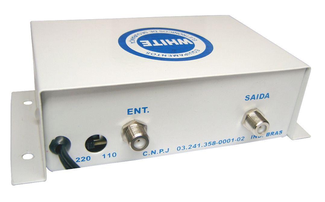 Amplificador Sinal Video Cameras Cftv 1 Saida Com Conectores
