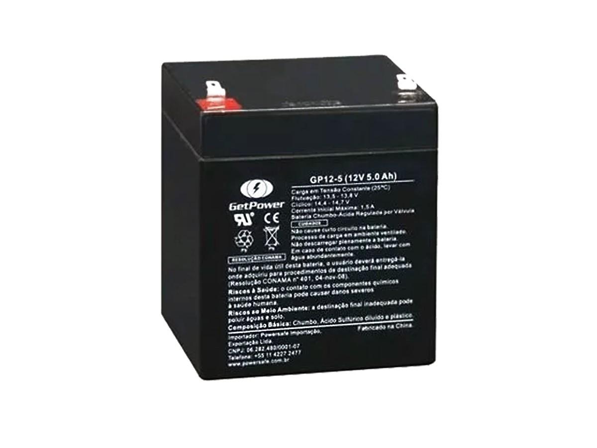 Bateria 12v 5ah Getpower Gp12 5s Nobreak Sms Apc
