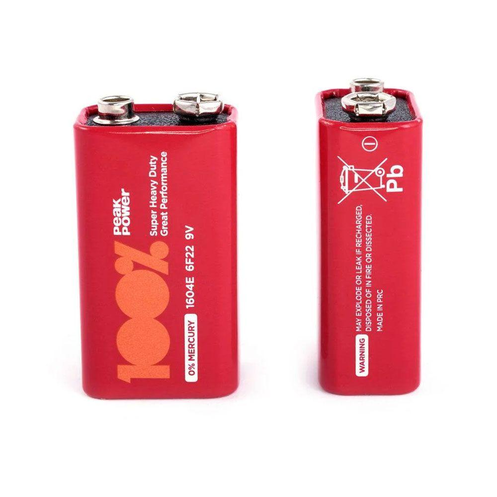Bateria 9 volts 100% Power Peak unidade