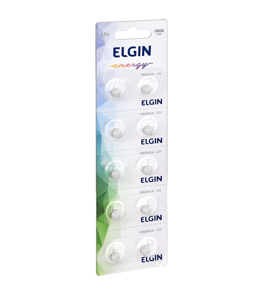 Bateria Elgin Lr626 Ag4 1.5v Cartela 10 Unidades