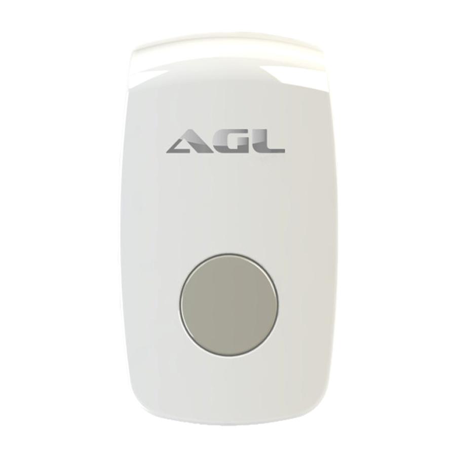 Botoeira 12v Agl Fechadura Elétrica Com Receptor 433mhz