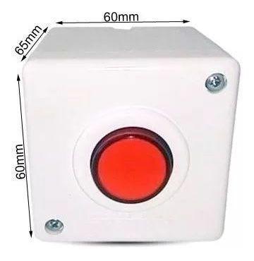 Botoeira Botão Comando Branca Stilus Na Nf Alarme Fechadura