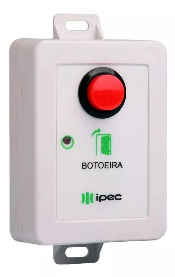 Botoeira Ipec S/ Fio 433mhz 1 Botão P/ Motor Fechadura