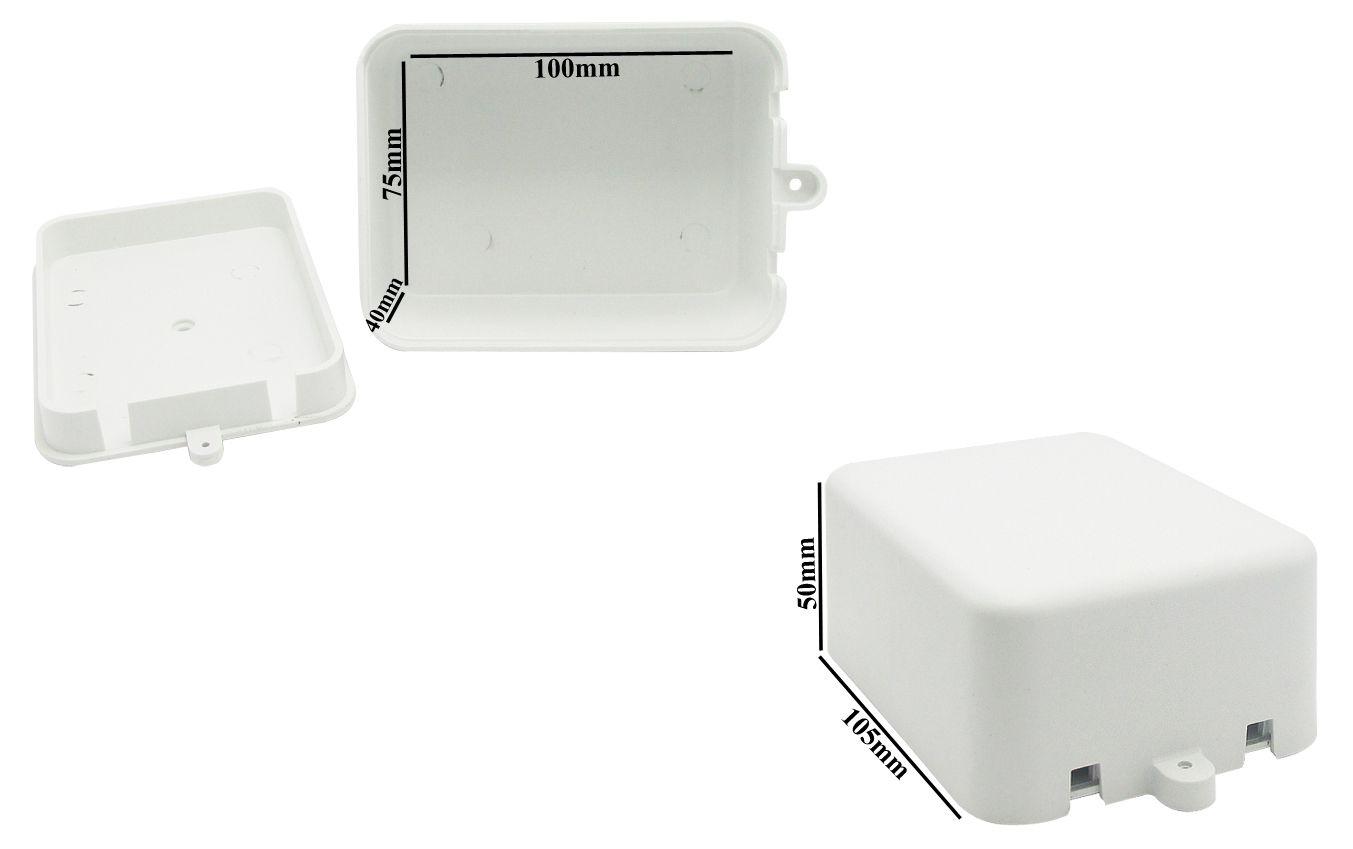Caixa Plastica Organizadora Camera Cftv Parafuso 100x78x43mm