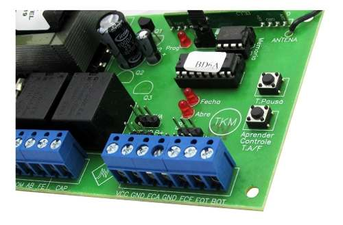 Central New Back Portao Automatico Comando Garen Capacitor