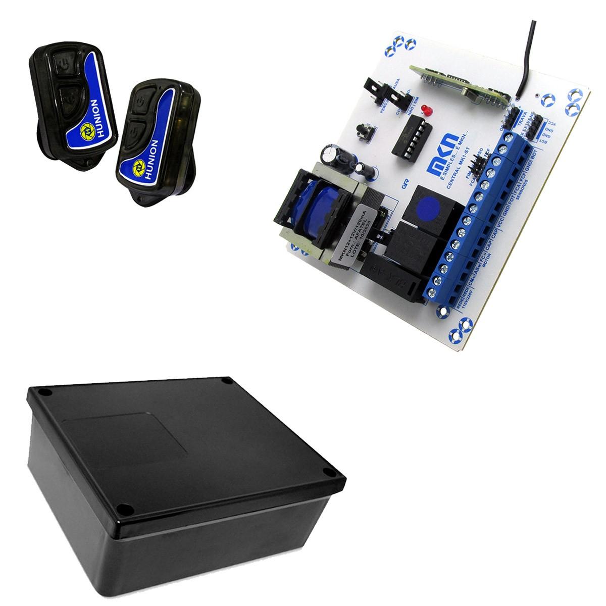 Central Placa Comando Portão Automático + Controle + Caixa