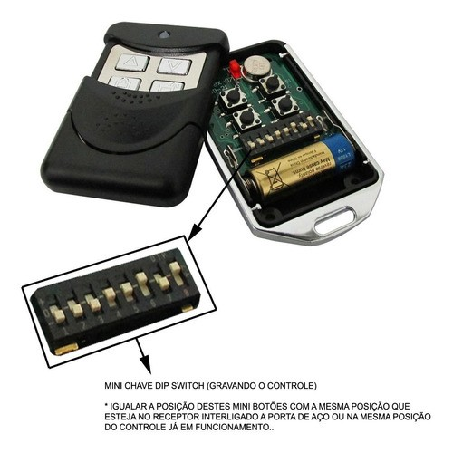 Central Porta Enrolar Mega Atron Receptor Placa 6 Controles