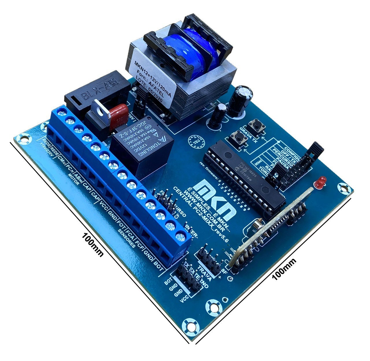 Central Portao Automatico Cp4000 Mkn + Fim Curso + Controles