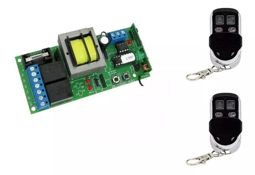 Central Portao Automatico Nb52 Ppa Pop Com 2 Controles Nova