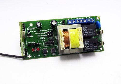 Central Portão Eletronico G100 + 2 Controles Cromado 433mhz