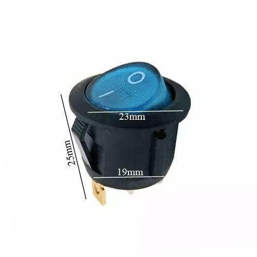 Chave Gangorra Luz Neon Azul 2 Posições Kcd1 105