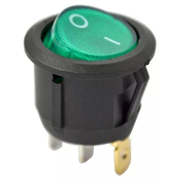Chave Gangorra Redonda Luz Neon Verde 2 Posições Kcd1 105