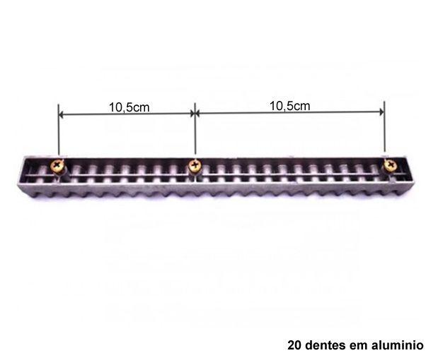 Cremalheira Alumínio Gomo 25cm Peça Original Rossi M4