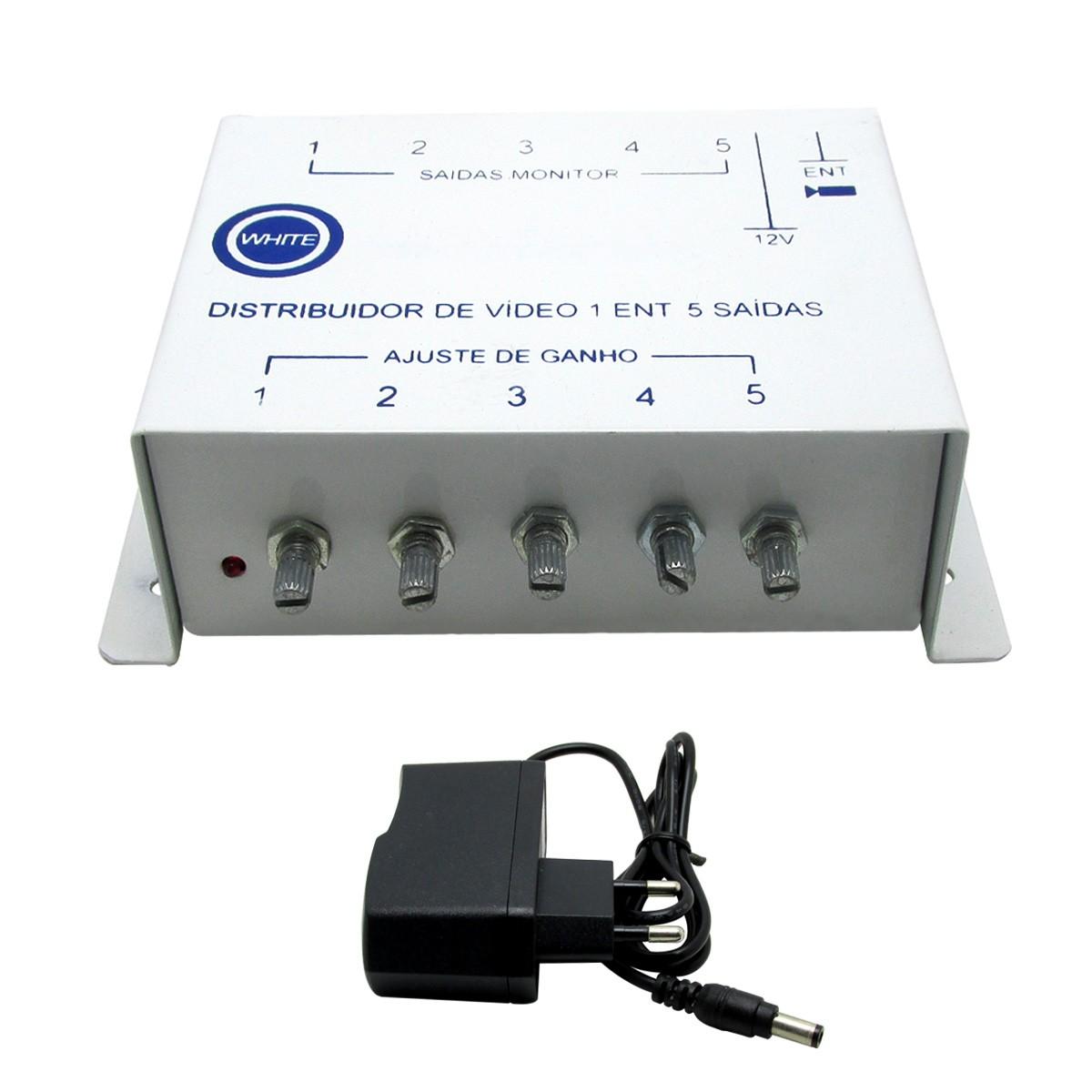 Distribuidor e Amplificador de vídeo WHITE 05 saídas