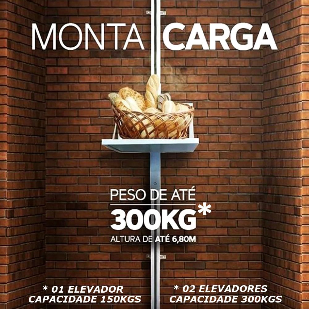 Elevador De Carga 3mts 150kgs 220v + Viga U