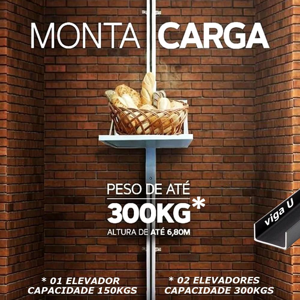 Elevador De Carga 4,50mts 150k 220v Monta Carga Viga U