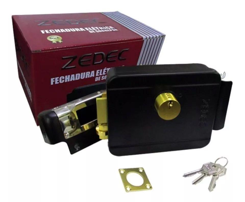 Fechadura Eletrica 12v ZEDEC modelo ZT-1001FE Abre para Fora e para Dentro