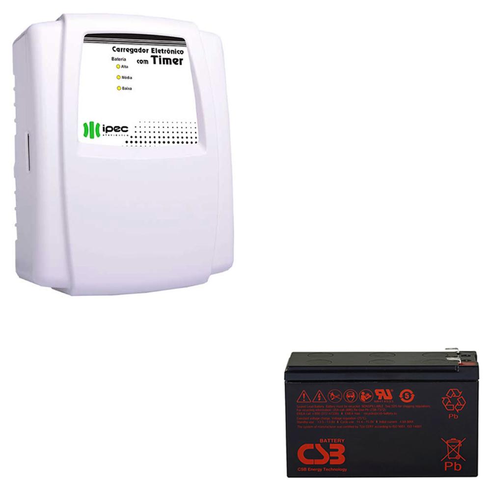 Fonte Fechadura Eletromagnética Carregador 2a + Bateria 7ah