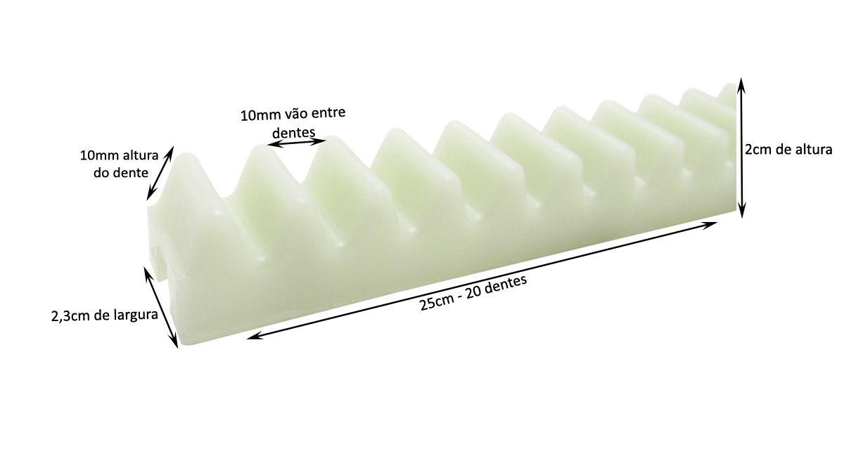 Gomo Cremalheira Nylon 25cm Rossi Original Branco Série Ouro