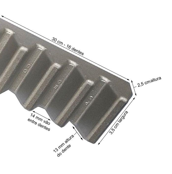 Gomo Peccinin Cremalheira Industrial Aluminio Dz Max 30cm
