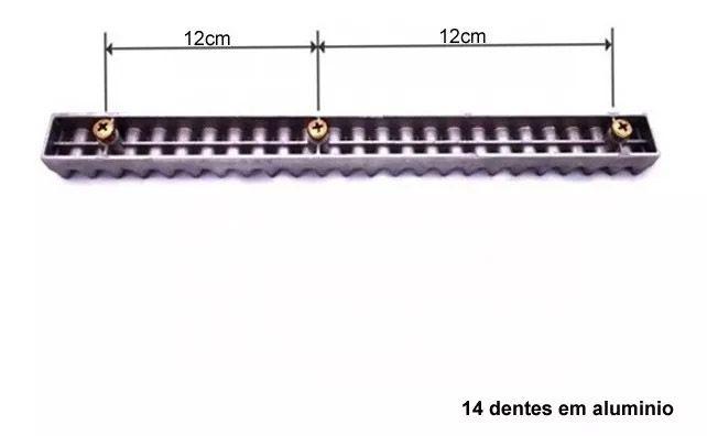 Gomo Rossi Cremalheira Industrial Alumínio 25cm Motor Rossi Dzi M6 25cm