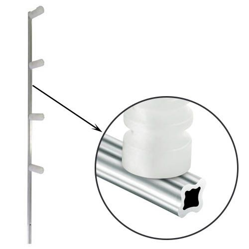 Haste de Aluminio Estrela Cerca Eletrica 4 Isoladores