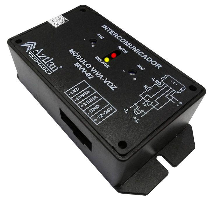 Interfone Modulo Viva Voz Elevador Placa Mvv02 Aztlan