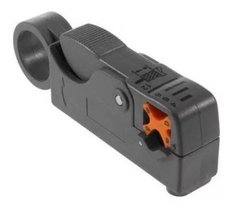 Kit Alicate Compressao Bnc Decapador E 30 Conectores Rg6 Bnc