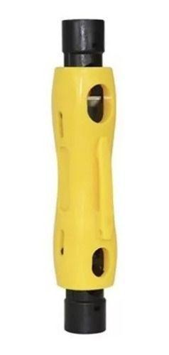 Kit Alicate Compressao Com Decapador E 100 Conectores Rg06