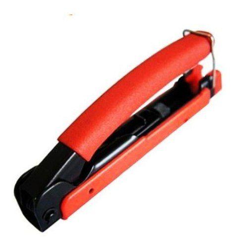 Kit Alicate Compressao Com Decapador E 100 Conectores Rg59