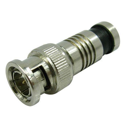 Kit Alicate Crimpar Compressao Bnc + 30 Conectores Bnc Rg06