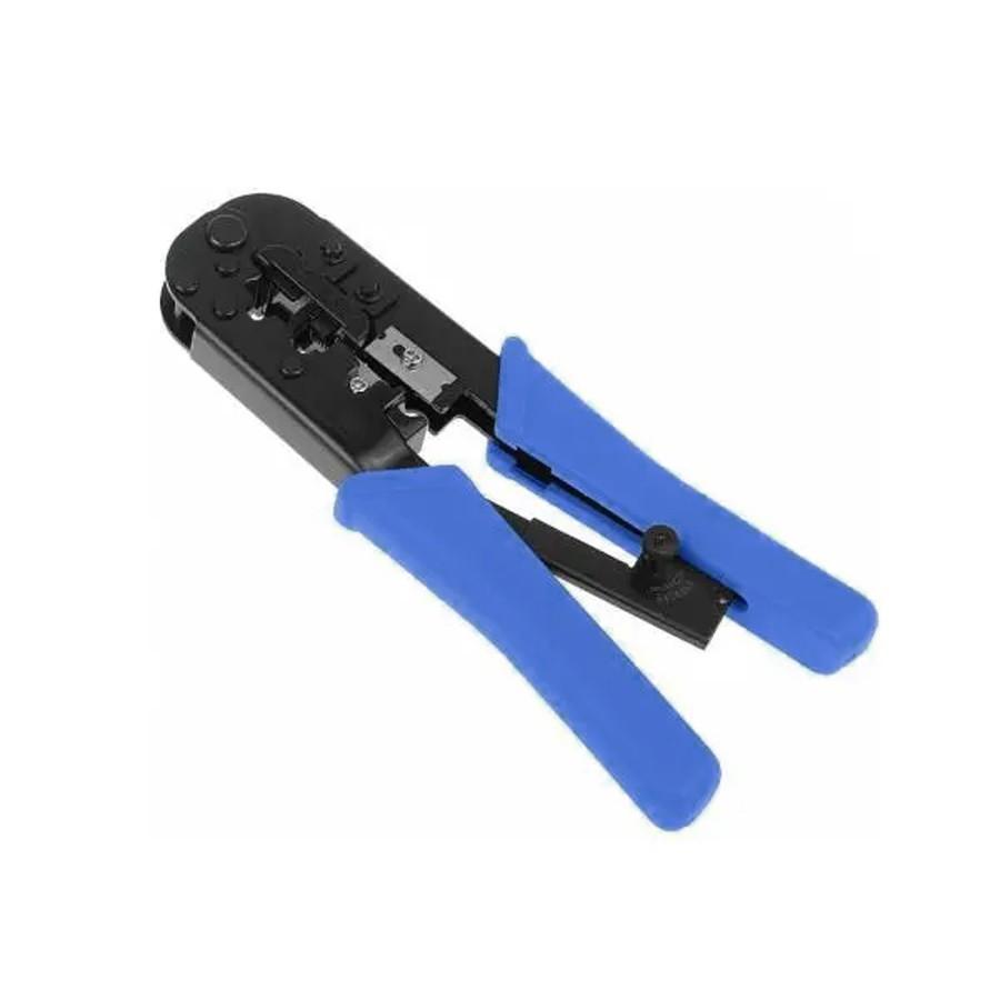 Kit Alicate Crimpar Rj45 Rj11 Catraca Mais 100 Plugs Rj45