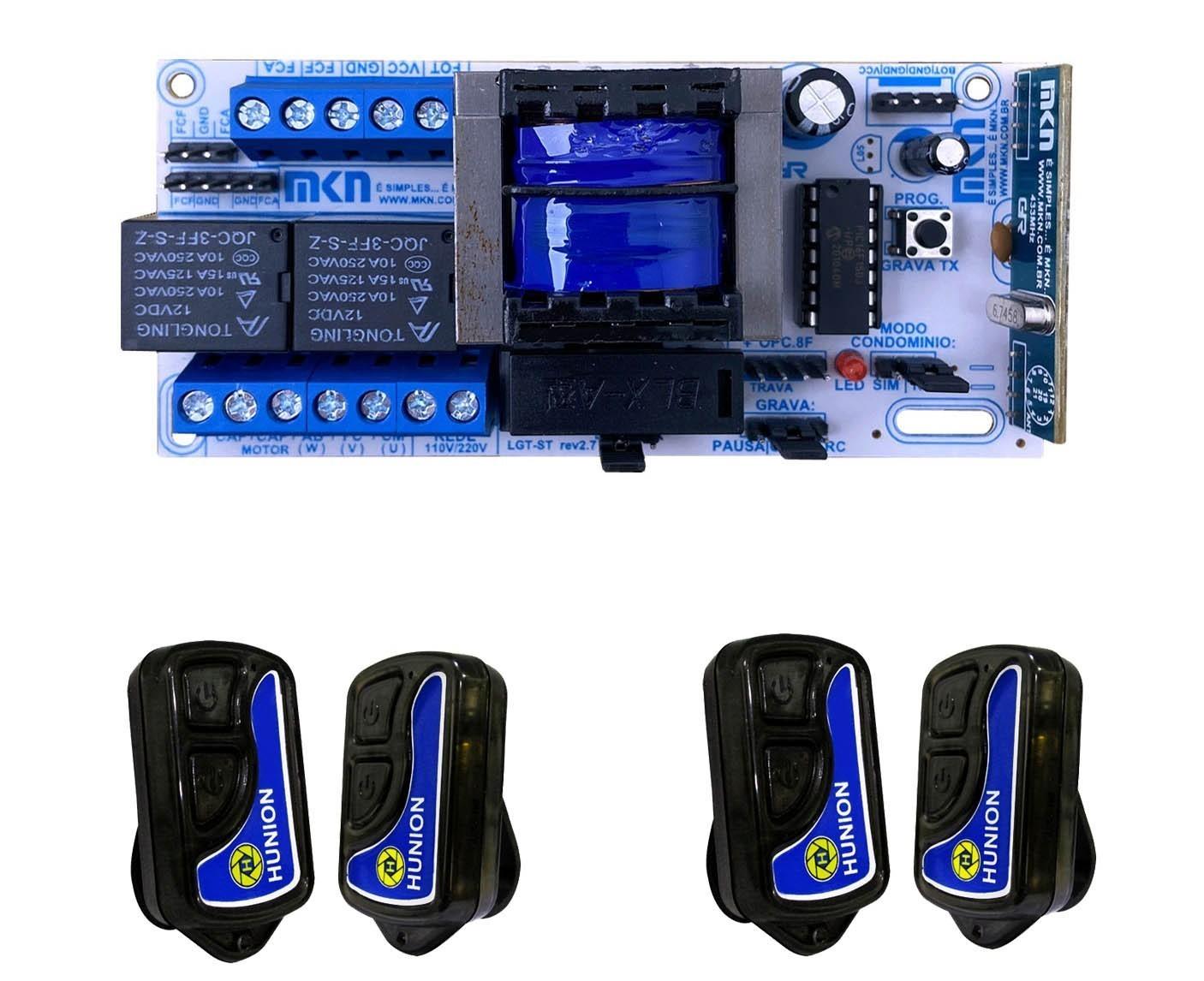 Kit Central Placa De Comando Portão Automático 04 Controles