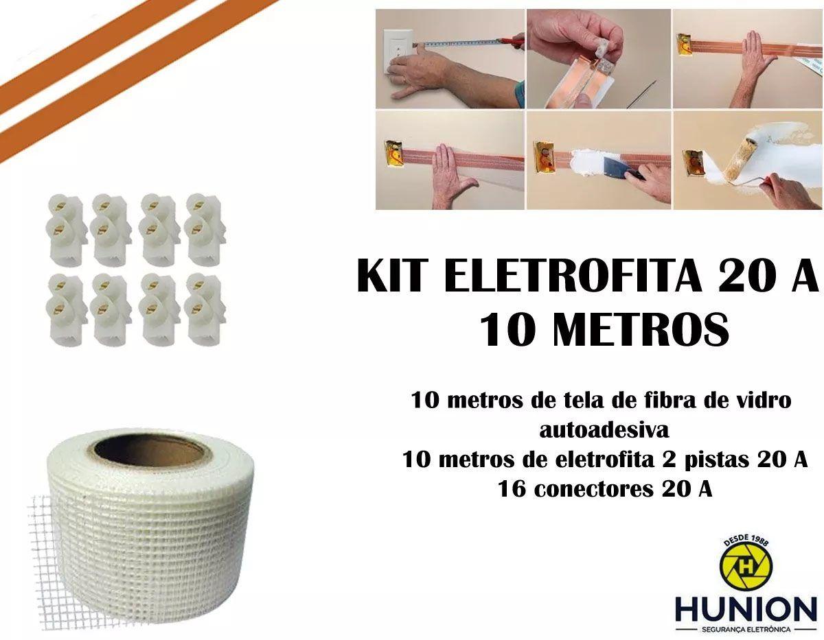 Kit Fita Elétrica Eletrofita 2 Pistas 10 Metros 750v/20amp