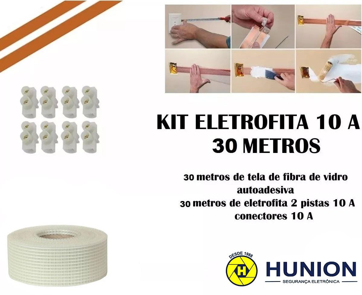 Kit Fita Elétrica Eletrofita 2 Pistas 30 Metros 750v/10amp