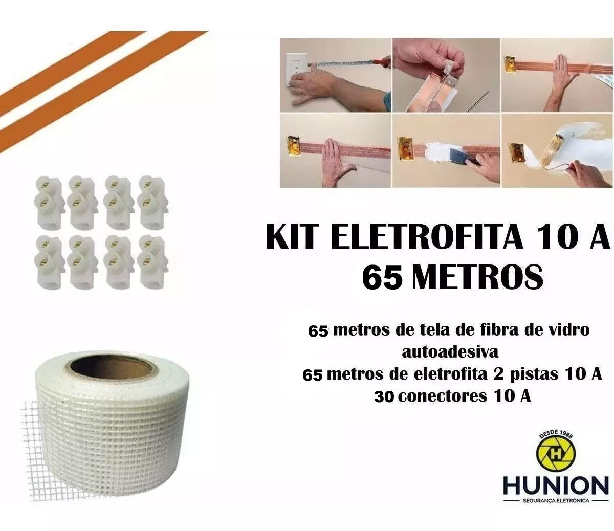 Kit Fita Elétrica Eletrofita 2 Pistas 65 Metros 750v/10amp