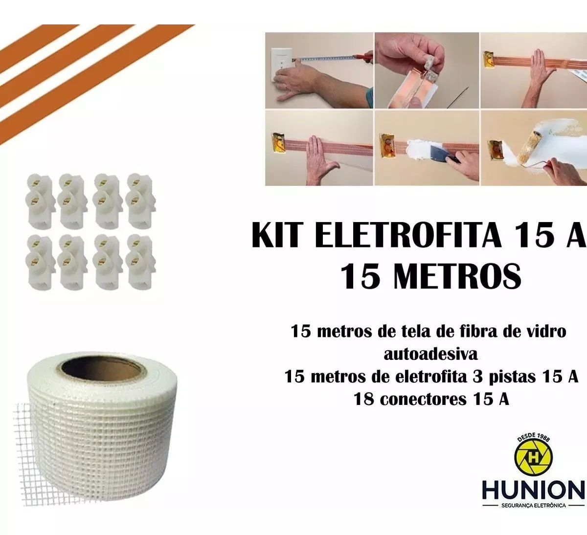 Kit Fita Elétrica Eletrofita 3 Pistas 15 Metros 750v/15amp