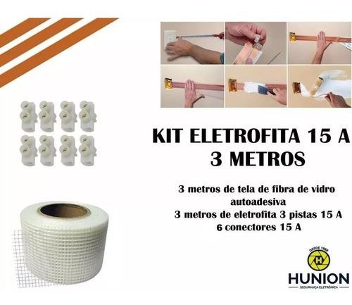 Kit Fita Elétrica Eletrofita 3 Pistas 3 Metros 750v/15amp