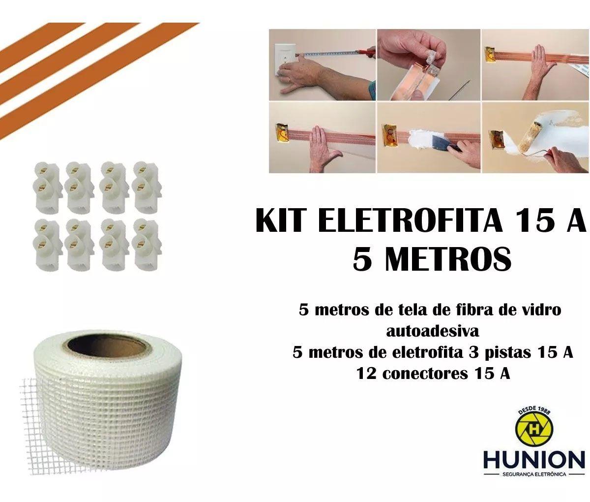 Kit Fita Elétrica Eletrofita 3 Pistas 5 Metros 750v/15amp