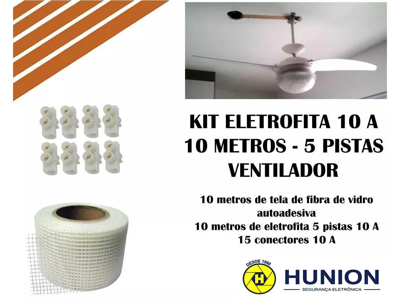 Kit Fita Elétrica Eletrofita 5 Pistas 10 Metros - Ventilador